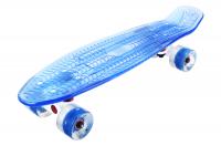 Скейтборд  PLAYSHION со светящимися колесами и декой