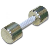 Гантель хромированная для фитнеса Barbell 5 кг MB-FitM-5