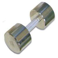 Гантель хромированная для фитнеса Barbell 9 кг MB-FitM-9