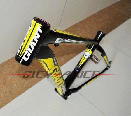Алюминиевая рама для горного велосипеда Giant 2012XTC FR (mtb bike frame) 26*16/18inch (желтый-черный-белый)