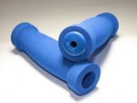 Грипсы CHILILON CLL-129, 22х120мм, неопрен, 22х120мм, с заглушками, синие