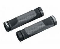 ГРИПСЫ X-TAZ-Y RSK-08/2, 22х130, кратон/гель, с двумя грипстопами, чёрные с серым