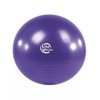 Мяч гимнастический + массажный Lite weights BB010-30 (75см, с насосом, фиолетовый)