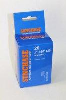 Камера SUNCHASE натур. резина 14x1.75/2.125 A/V в цветной коробке