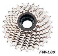 Кассета FALCON FW-80, 8 скоростей, дискретная, 13-14-16-18-20-22-24-28T, хромированная, совместимые цепи: IG51/HG50
