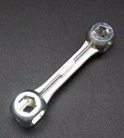 """Ключ """"Гантеля"""" BIKE HAND YC-106C гаечный с прорезями от 6мм до15мм в торг. упак."""