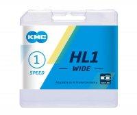 "Цепь  KMC HL1 WIDE, 1 ск., 1/2x1/8""х112L халфлинковая, серебристая, в торг.уп."