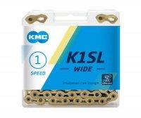 """Цепь  KMC K1SL WIDE, 1 ск., 1/2x1/8""""Х116, серебристая, без уп."""