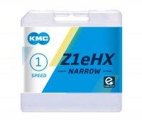 """Цепь  KMC Z1EHX-NARROW, 1 ск., 1/2x3/32""""х112, серебристая, в торг.уп."""