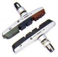 Колодки BARADINE тормозные MTB-955VC для V-brake, картриджные, резьбовые, 72мм, корпус серебр., картридж чёрный