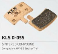 Колодки Kellys тормозные к диск. торм. композит.D-05S, совместим: HAYES Stroker trail