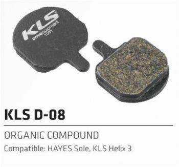 Колодки Kellys тормозные к диск. торм. полуметаллическиеD-08S, совместим.: HAYES Sole,Helix 3