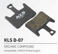 Колодки Kellys тормозные к диск. торм. с кевларовым волокномD-07, совместим: HAYES Prime expert