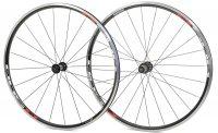 """Комплект колес  SHIMANO R501A, 28"""", плоские спицы, цвет: черный"""