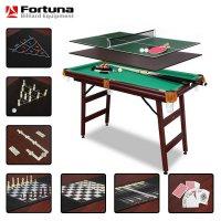 Бильярдный стол Fortuna Billiard Equipment пул 4фт 9 в 1 с комплектом аксессуаров