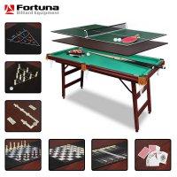 Бильярдный стол Fortuna Billiard Equipment пул 5фт 9 в 1 с комплектом аксессуаров