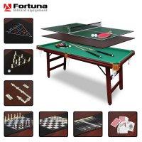 Бильярдный стол Fortuna Billiard Equipment пул 6фт 9 в 1 с комплектом аксессуаров