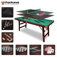 Бильярдный стол Fortuna Billiard Equipment снукер 6фт 9 в 1 с комплектом аксессуаров