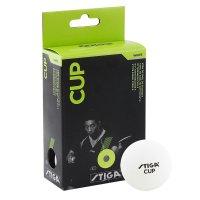 Мяч для настольного тенниса Stiga Cup, 40мм, упак. 6 шт, белый