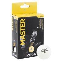 Мяч для настольного тенниса Stiga Master 6 шт 40 мм (белый)