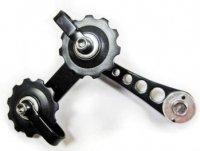 Натяжитель цепи MR.CONTROL SSP-12-1 (на петух вместо переключателя скоростей для singlspeed ) на двух роликах, чёрный