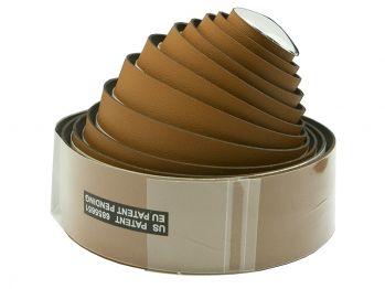 Оплётка на руль VELO VLT-032G-07 200х3 см, микрофибра, гель, светло-коричневая, с заглушками
