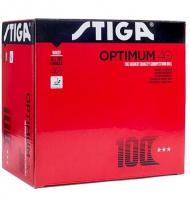 Мячи Stiga Optimum 100 шт 40 + (белый)