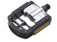 Педали WELLGO FP-7, складные, алюминий, ось Cr-mo, с подшипниками, 106х81х26мм, 452г, чёрные
