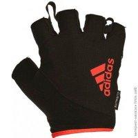 Перчатки для фитнеса Adidas красные, размер L