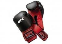 Перчатки для спарринга UFC винил (черно-красные) 12oz 1450891P