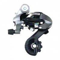 Переключатель задний  TBS HG-86A дискретный, короткая лапка (57мм), ёмкость 28T, крепление на петух, алюминий/сталь/пластик, в торг.уп