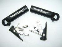 Рога TRANZ X JD-886 с набором инструментов, алюминий, D:28,6 мм, длина 110 мм