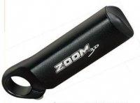 Рога Zoom MT-90A, алюминий, D:22,2мм, длина 104мм, чёрные