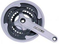 Шатуны LASCO под квадрат, 24/34/42Tх170мм, линия цепи 47,5мм, сталь в пластике, чёрные, с защитой