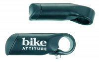Набор рогов Bike Attitude ALLOY BAR END L:80MM BLACK