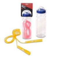 Скакалка Spirit Fitness в комплеке с бутылочкой для воды