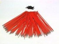 Спицы Pillar нерж.сталь, 14Gх186мм, оранжевые с чёрными алюм. ниппелями, 40 шт.