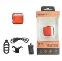 Фонарь задний TBS , панели COB LED, макс. 60лм(белый) / 30лм(красный), литий-полимерный аккумулятор 350мАч, время зарядки 1ч, 7 режимов (4-6ч), корпус: ал./пластик, в комплекте клипса на ремень