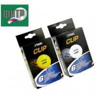 Теннисные мячи Stiga Cup оранжевый 40 мм (в упаковке 6 штук)