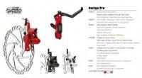 Тормоз TEKTRO дисковый гидр. задний, AURIGA PRO, ротор 180мм, красный калипер и брекет, чёрная ручка, гидролиния 1450мм