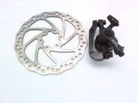 Тормоз TEKTRO дисковый мех. AQUILA с ротором 160мм, чёрный, колодки: металлокерамика, вес 206г без ротора