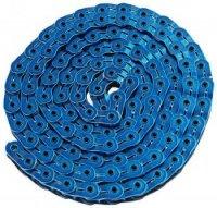 """Цепь YBN MK926, 1 ск., 1/2""""X1/8""""X102, халфлинковая, синяя, в торг.уп., перфорированная, высокопрочные полые хромированные пины, высокая прочность на разрыв"""