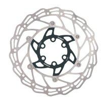 Диск тормозной  ALHONGA 140 мм нержавеющая сталь серебристый/чёрный с болтами