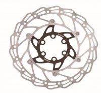 Диск тормозной  ALHONGA 180 мм нержавеющая сталь серебристый/чёрный с болтами