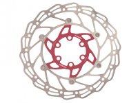 Диск тормозной  ALHONGA 140 мм нержавеющая сталь серебристый/красный с болтами