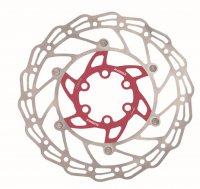 Диск тормозной  ALHONGA 160 мм нержавеющая сталь серебристый/красный с болтами