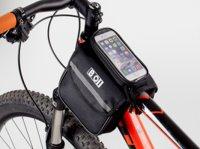 Сумка для велосипеда TBS Mingda на верхнюю трубу рамы трёхсекционная 15х11х4,5см (боковая сторона) со съёмным отделением для смартфона 1...