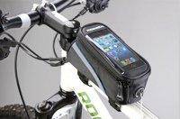 """Сумка для велосипеда  TBS Mingda сумка на раму l19,5хh9хw8,5 с отделением для смартфона, окошко 4,8"""", крепление на липучках, материал 420d влагостойкий"""