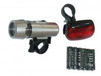 Комплект освещения TBS SH-203A(серебро- 5 диодов, 3 режима)+SH-103(5 диодов, 3 режима)батарейки в компл., в торгов...
