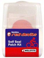 Аптечка WELDTITE RED DEVIL, 6 круглых суперзаплаток-самоклеек, шкурка, блистер (Англия)